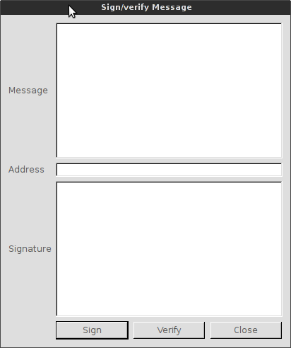 Fill in address and message fields.