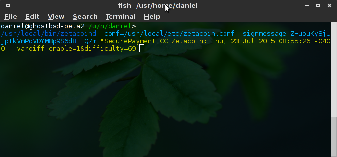 Zetacoin on FreeBSD example.
